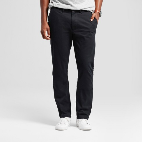 8d6244a4bd06 Men's Athletic Fit Hennepin Chino Pants - Goodfellow & Co™ Black ...