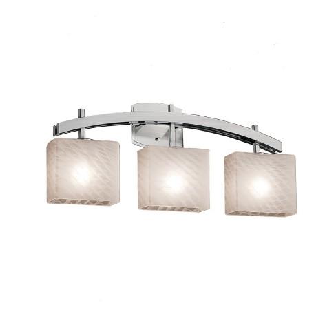 "Justice Design Group FSN-8593-55-WEVE Fusion 25.5"" Archway 3 Light Vanity Light - image 1 of 1"