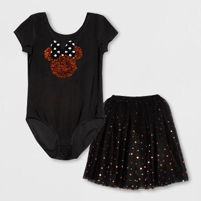 Girls' Disney Minnie Mouse Tutu Dress - Black M