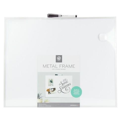 """Ubrands Aluminum Frame Magnetic Dry Erase Board - 16"""" x 20"""" - image 1 of 2"""