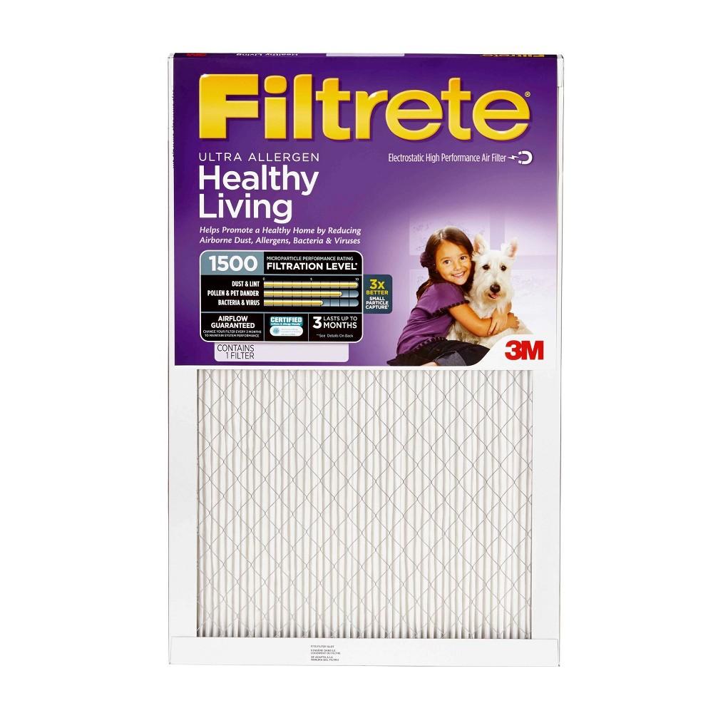 Filtrete Ultra Allergen 20X24, Air Filter, White