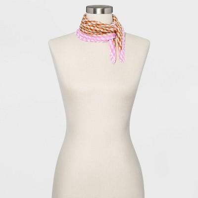 Women's Pleated Chiffon Neckerchief - A New Day™ One Size