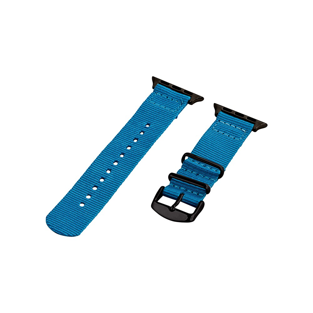 Clockwork Synergy Classic Nato 2 Apple Watch Band 42mm with Black Adapter - Electric Blue, Adult Unisex Customize the look of your timepiece with the Classic Nato 2-Piece Apple Watch Band from Clockwork Synergy. Crafted from high-quality nylon, this blue watchband ensures long-lasting durability without sacrificing comfortable wear. With 11 adjustability holes, you'll get the perfect custom fit so your watch stays in place all day. Whether you add a pop of color to your look from the blue watchband, or you switch it out to complement a specific outfit, you'll love sporting a unique look that complements your style. Gender: Unisex. Age Group: Adult.
