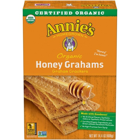 Annie's Homegrown Organic Honey Graham Crackers -14.4oz - image 1 of 3