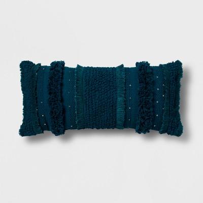 Teal Tufted Oversize Lumbar Throw Pillow - Opalhouse™