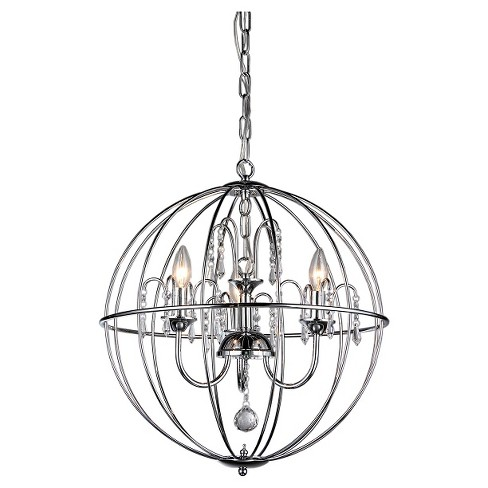 Warehouse Of Tiffany Indoor Pendant -Silver - image 1 of 1