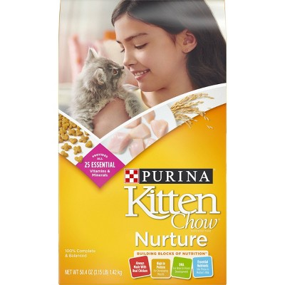 Purina Kitten Chow Nurture With Chicken Complete & Balanced Dry Cat Food - 3.15lbs