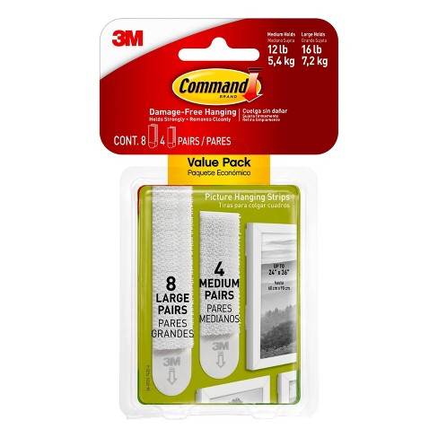 Command 4 Sets Of Medium 8 Sets Of Large And Medium Sized Picture Hanging Strips White Target