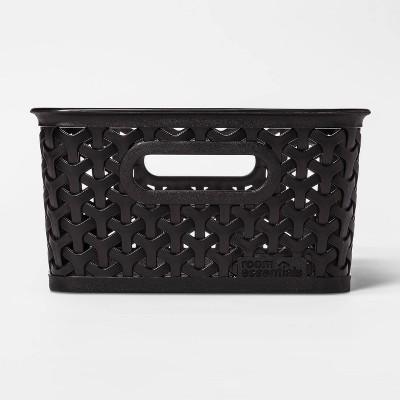 Y-Weave Small Decorative Storage Basket Black - Room Essentials™