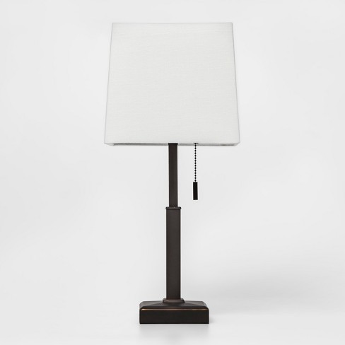Square Stick With Outlet Table Lamps Bronze Threshold