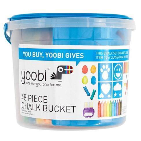 Yoobi™ Sidewalk Chalk Bucket with 50 pc - Multicolor (50pk) - image 1 of 2