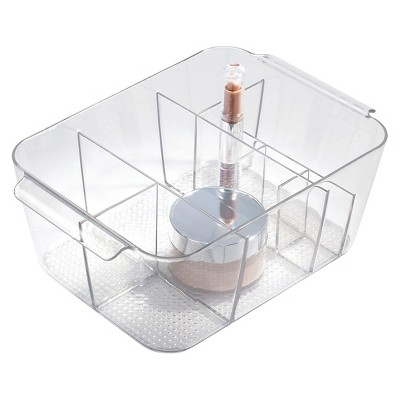 Clarity Divided Cosmetic Bin Clear - iDESIGN