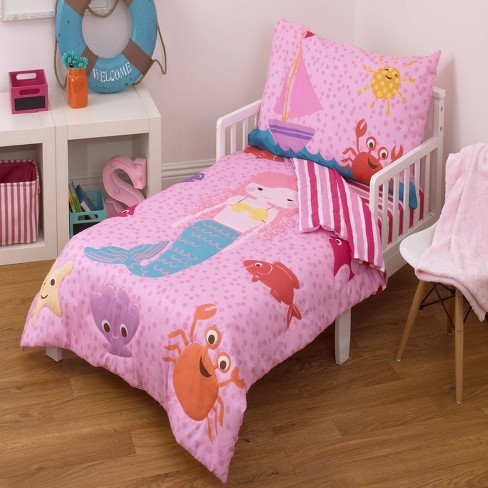 Nojo 4pc Little Tikes Mermaid Toddler, The Little Mermaid Toddler Bedding