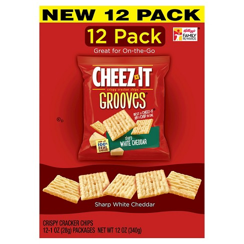 Cheez-It Grooves White Cheddar Caddy Pack 12CT 12oz - image 1 of 1