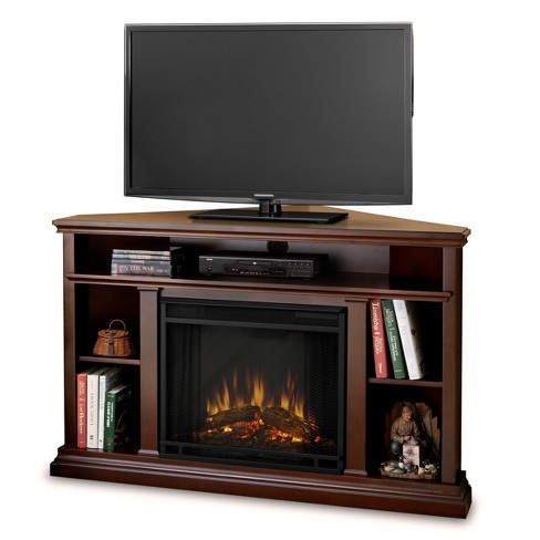 Churchill Corner Electric Fireplace Entertainment Center Real