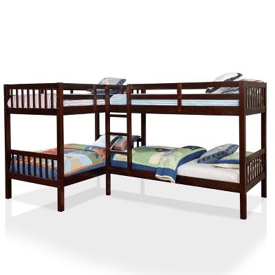 Quad Twin Fritz Kids' Bunk Bed - ioHOMES