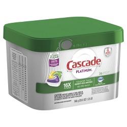 Cascade Platinum ActionPacs Lemon Scent Dishwasher Detergent