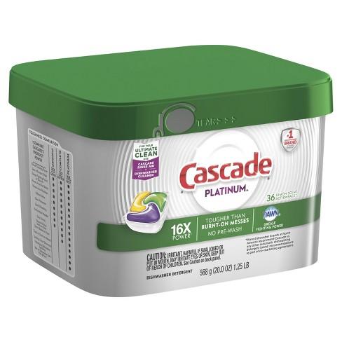 Cascade Platinum ActionPacs Lemon Scent Dishwasher Detergent - image 1 of 3