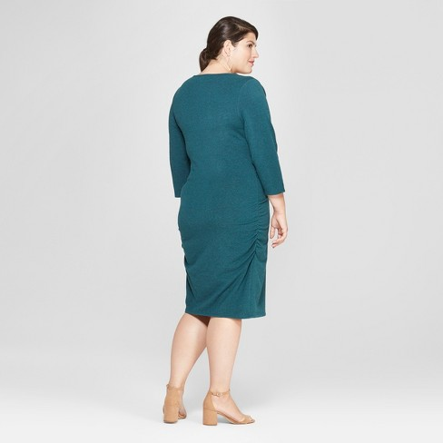 339cc3937bc76 Maternity Plus Size 3/4 Sleeve Shirred T-Shirt Dress - Isabel Maternity by  Ingrid & Isabel™ : Target