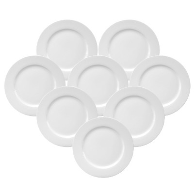 Oneida Chef's Table Porcelain Dinner Plates White 10  - Set of 8