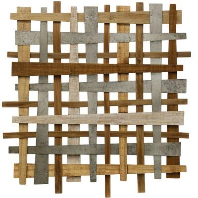 37  Crosshatch Alternative Industrial Farmhouse Decorative Wall Art - StyleCraft