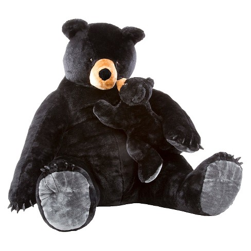 Melissa & Doug® Giant Black Bear and Baby Cub - Lifelike Stuffed Animals (nearly 3 feet tall) - image 1 of 2