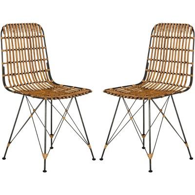 Minerva Wicker Dining Chair (Set of 2)  - Safavieh