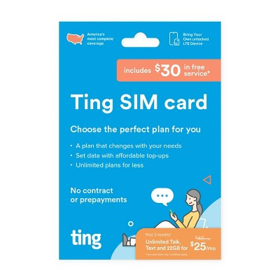 Ting SIM Kit with $30 Free Service