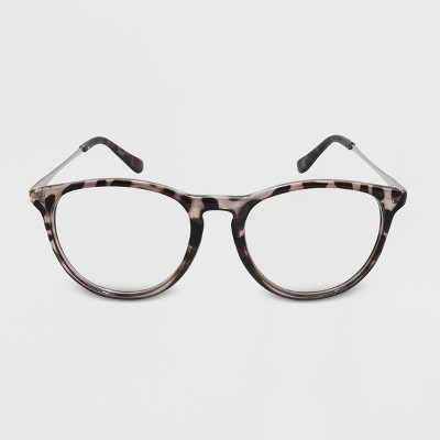 Women's Blue Light Filtering Round Glasses - Wild Fable™ Gray