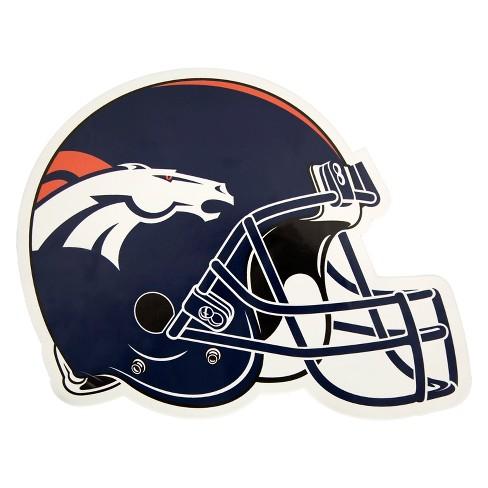 ad265f693 NFL Denver Broncos Small Outdoor Helmet Decal   Target