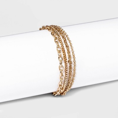 Chain Bracelet Set 4Pc - A New Day™ Gold