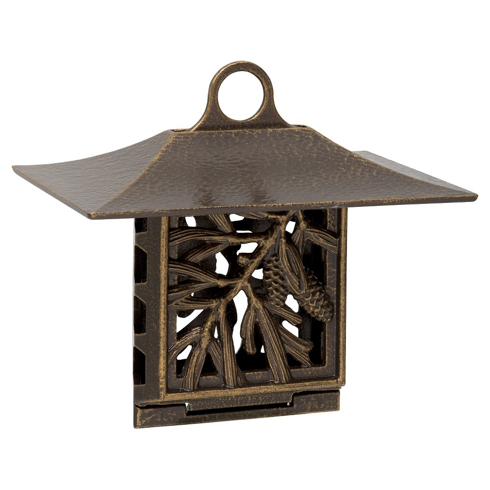 "Image of ""6.75"""" Pinecone Suet Feeder - French Bronze - Whitehall Products, Brown"""