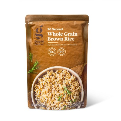 90 Second Whole Grain Brown Rice Microwavable Pouch - 8.8oz - Good & Gather™