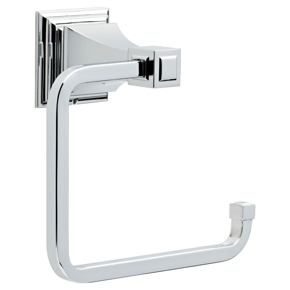 Image of Franklin Brass Lynwood Towel Ring - Polished Chrome, Polished Grey