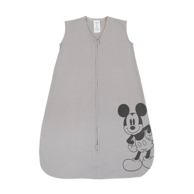 Disney Mickey Mouse 100% Cotton Knit Wearable Blanket - Gray/Black 6-12M