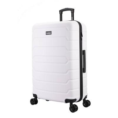 "InUSA Trend 28"" Lightweight Hardside Spinner Suitcase - White"