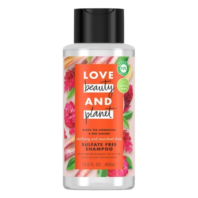 Love Beauty & Planet Black Tea Kombucha & Red Ginger Sulfate Free Shampoo - 13.5 fl oz