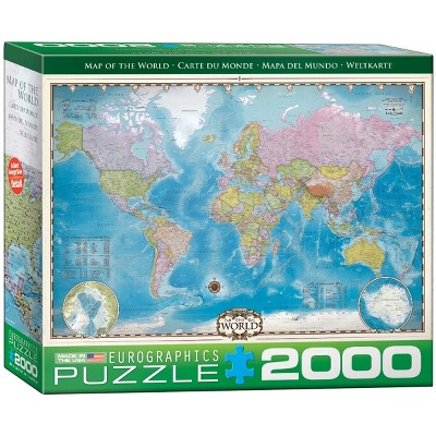 EuroGraphics Map of the World 2000pc Puzzle