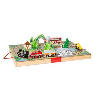 Melissa & Doug Take-Along Railroad 17pc