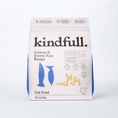 Salmon and Brown Rice Dry Cat Food - Kindfull™