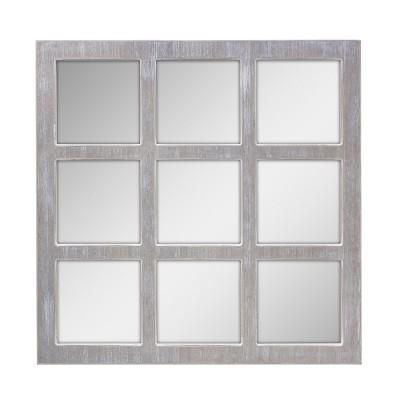 9 Panel Window Pane Mirror Gray 24 x24 - Stonebriar Collection