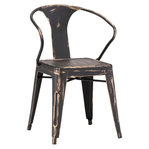 About this item - Rustic Galvanized Steel Dining Chairs (Set Of 2) - Antique Black
