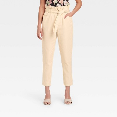 Women's Ankle Length Paperbag Trousers - Who What Wear™