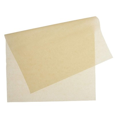 """Juvale 100 Pack Square Unbleached Parchment Paper Sheets for Baking, Brown, 16"""" x 24"""""""