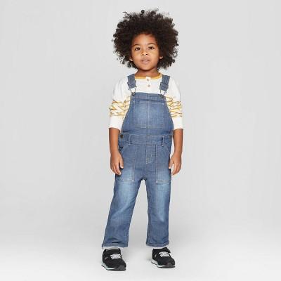 Genuine Kids® from OshKosh Toddler Boys' Knit Denim Overall - Medium Blue 12M