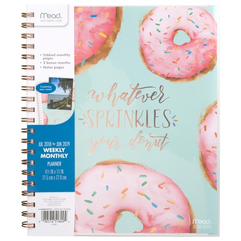 "2018-19 Academic Planner 8.5"" x 11"" Donuts - Mead - image 1 of 10"