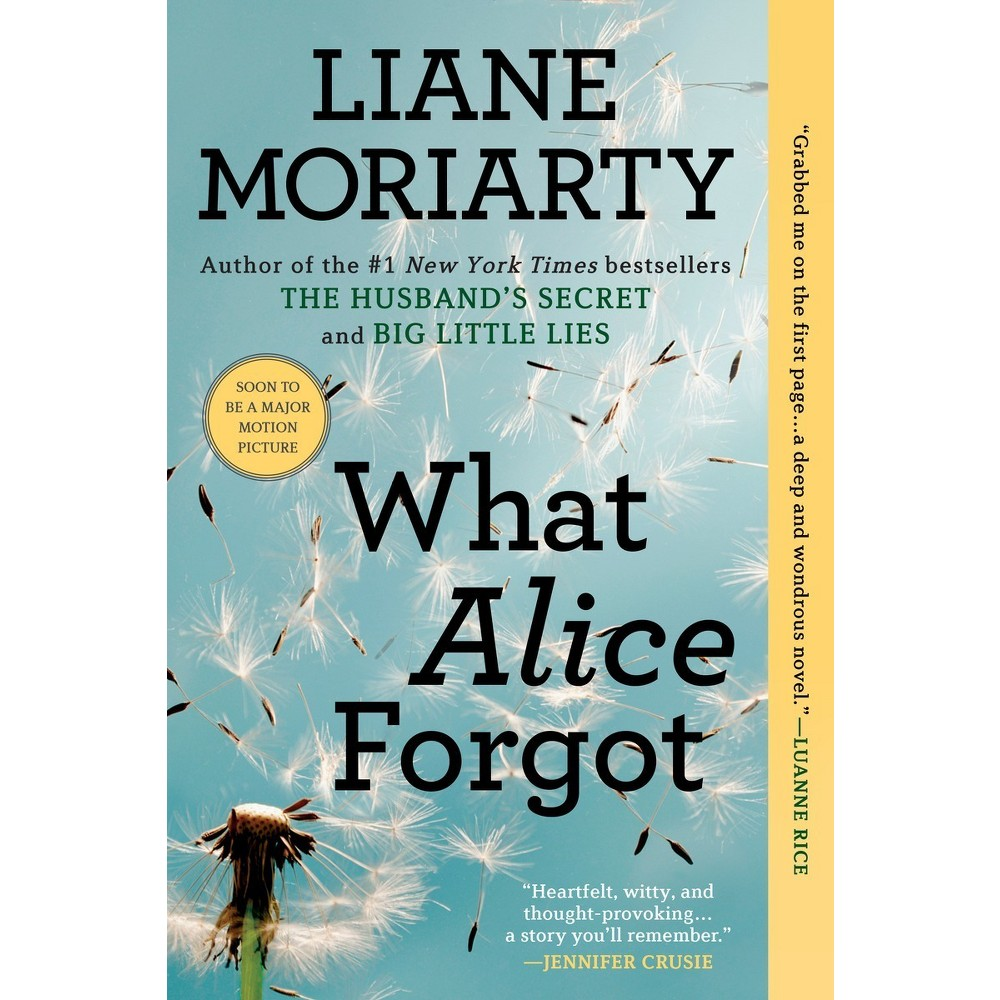 What Alice Forgot (Reprint) (Paperback) by Liane Moriarty Suffering an accident that causes her to forget the last 10 years of her life, Alice is astonished to discover that she is 39 years old, a mother of three children and in the midst of an acrimonious divorce from a man she dearly loves. By the author of Three Wishes. Reprint.