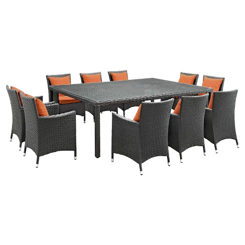 Sojourn 11 Piece Outdoor Patio Sunbrella174; Dining Set - Modway - image 1 of 7