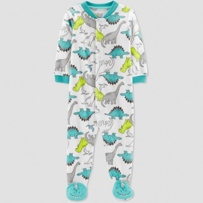 Baby Boys' Dino Print Microfleece Sleep 'N Play - Just One You® made by carter's Green Newborn