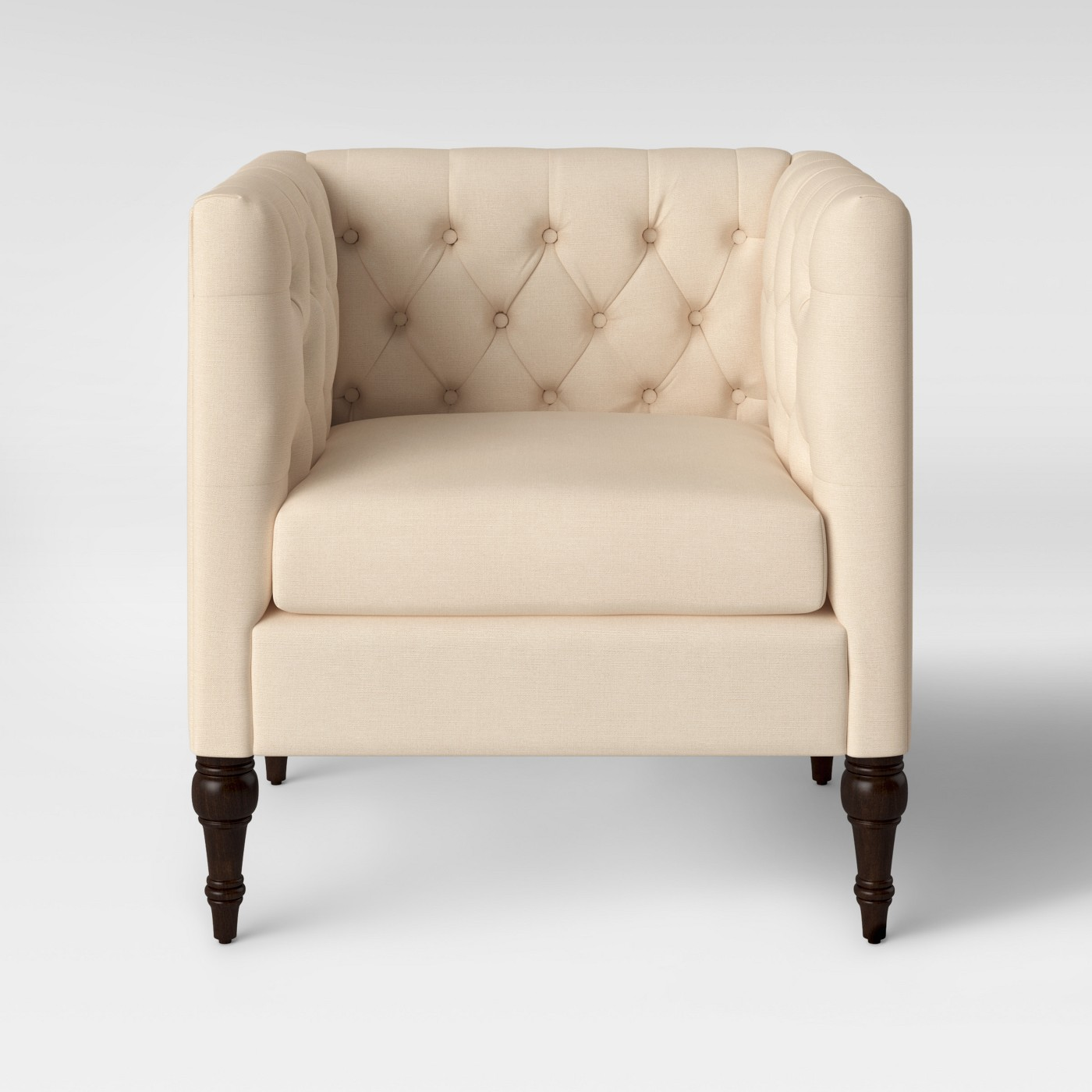 Threshold Tilton Square Tufted Arm Chair Delight Cream